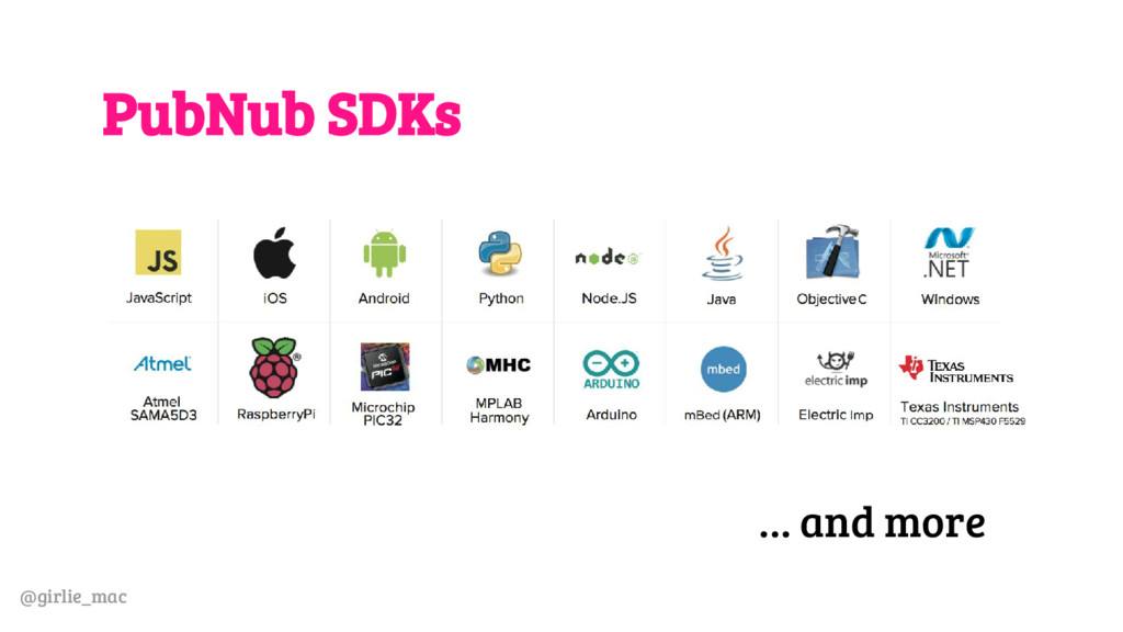@girlie_mac PubNub SDKs … and more