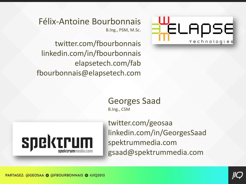 Georges Saad B.Ing., CSM twitter.com/geosaa lin...