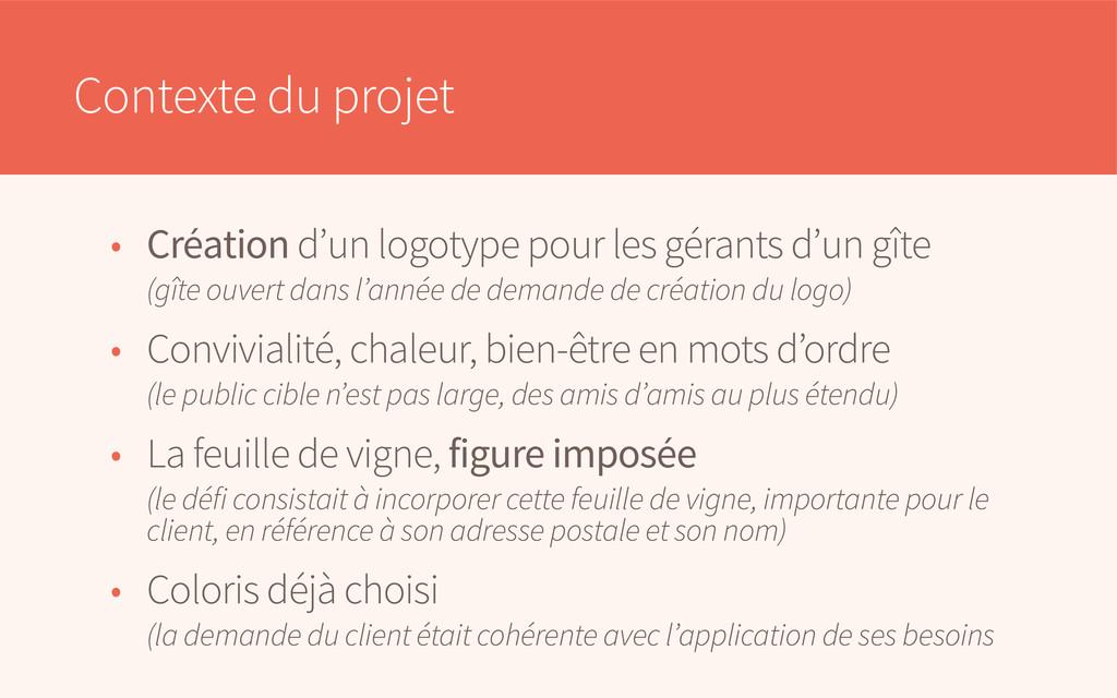 Contexte du projet • Création d'un logotype pou...
