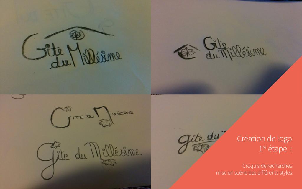 Création de logo 1re étape : Croquis de recherc...