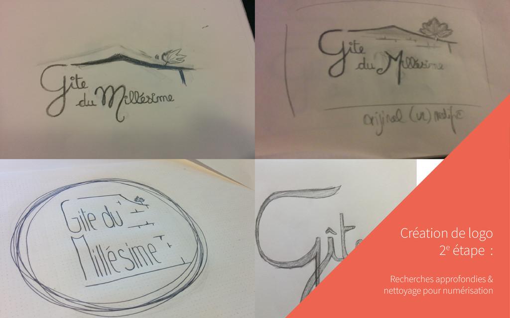Création de logo 2e étape : Recherches approfon...
