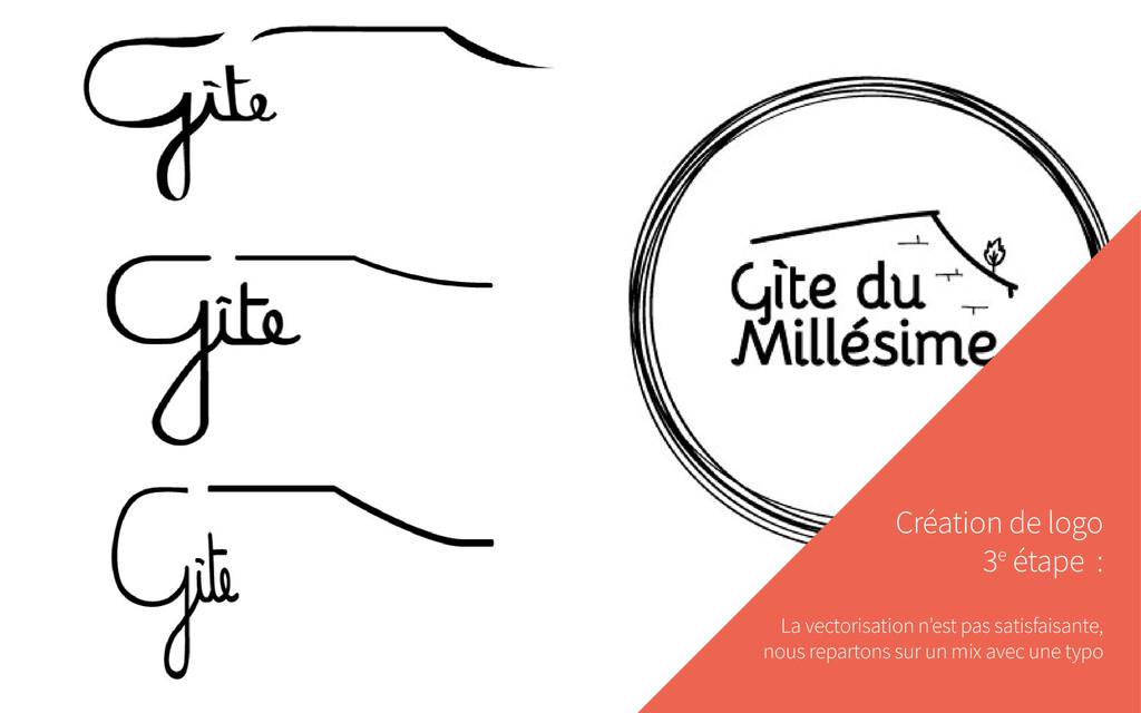 Création de logo 3e étape : La vectorisation n'...