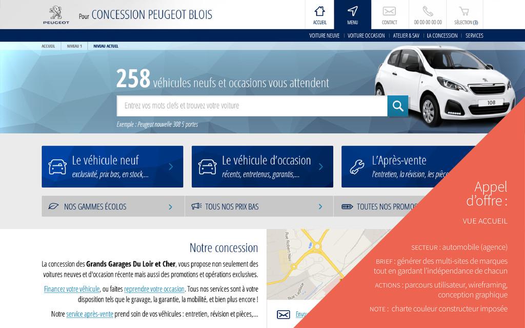 Appel d'offre : vue accueil secteur : automobil...