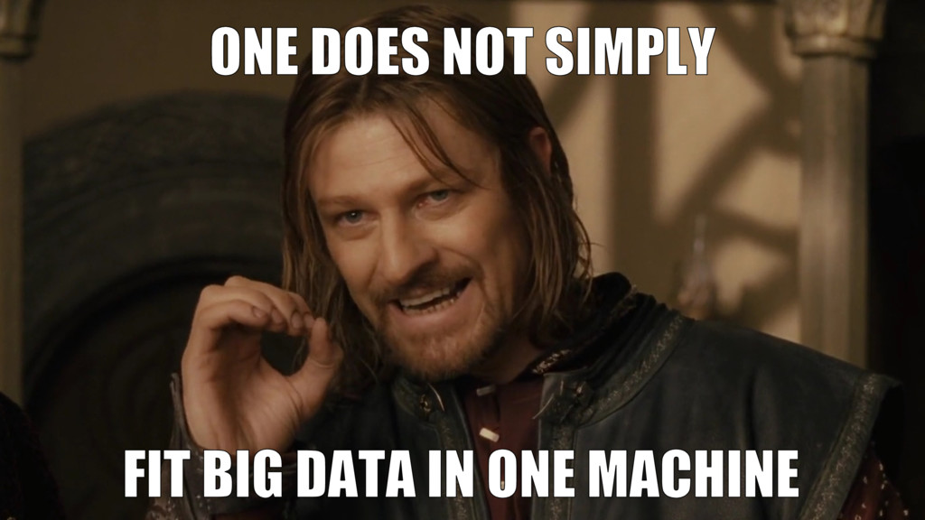 Problem • Data doesn't fit just one machine 12