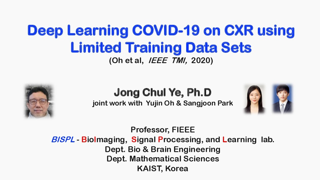 Deep Learning COVID-19 on CXR using Limited Tra...