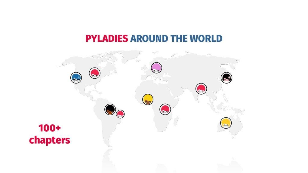 PYLADIES AROUND THE WORLD 100+ chapters