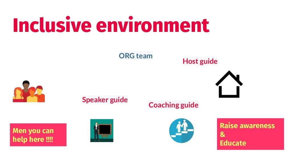Inclusive environment Speaker guide ORG team Ra...