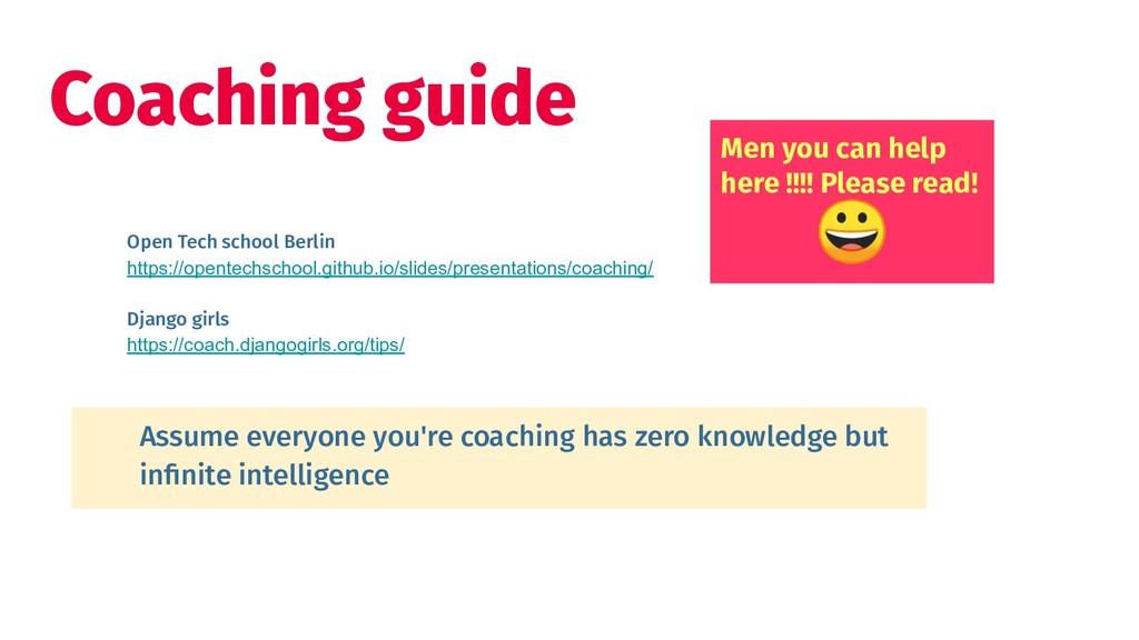 Coaching guide Open Tech school Berlin https://...
