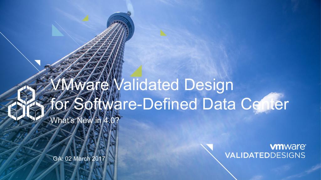 VMware Validated Design for Software-Defined Da...