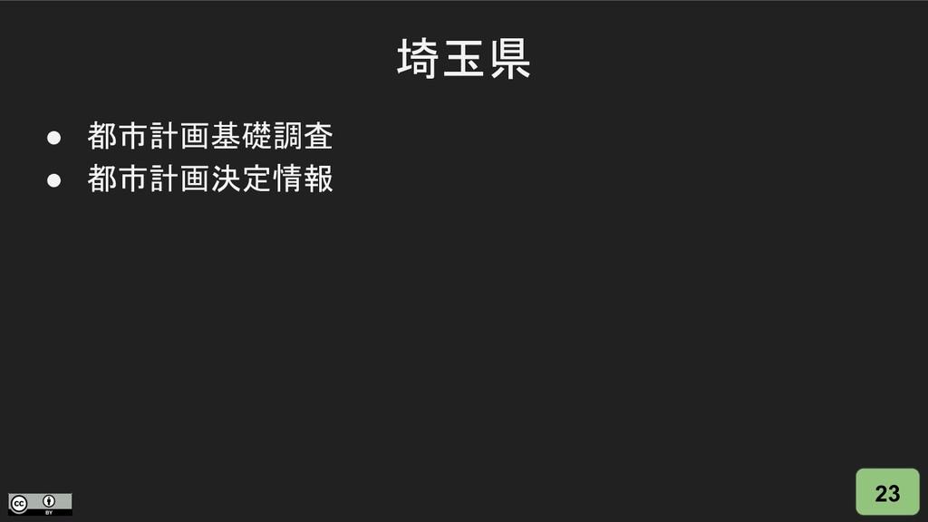埼玉県 23 ● 都市計画基礎調査 ● 都市計画決定情報