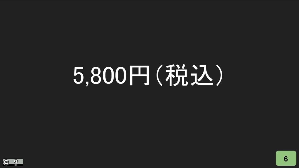 6 5,800円(税込)