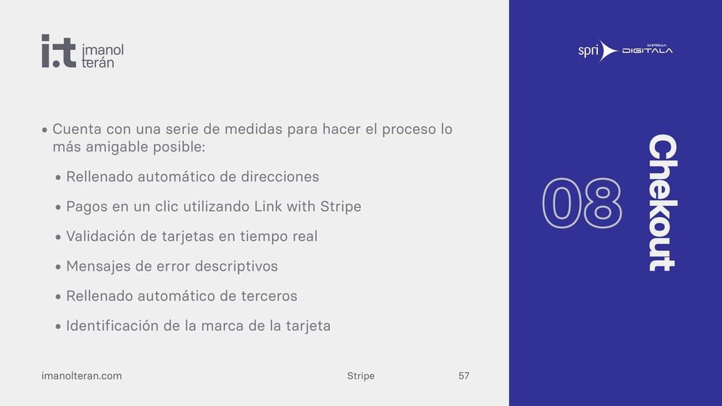 Stripe imanolteran.com • Cuenta con una serie d...