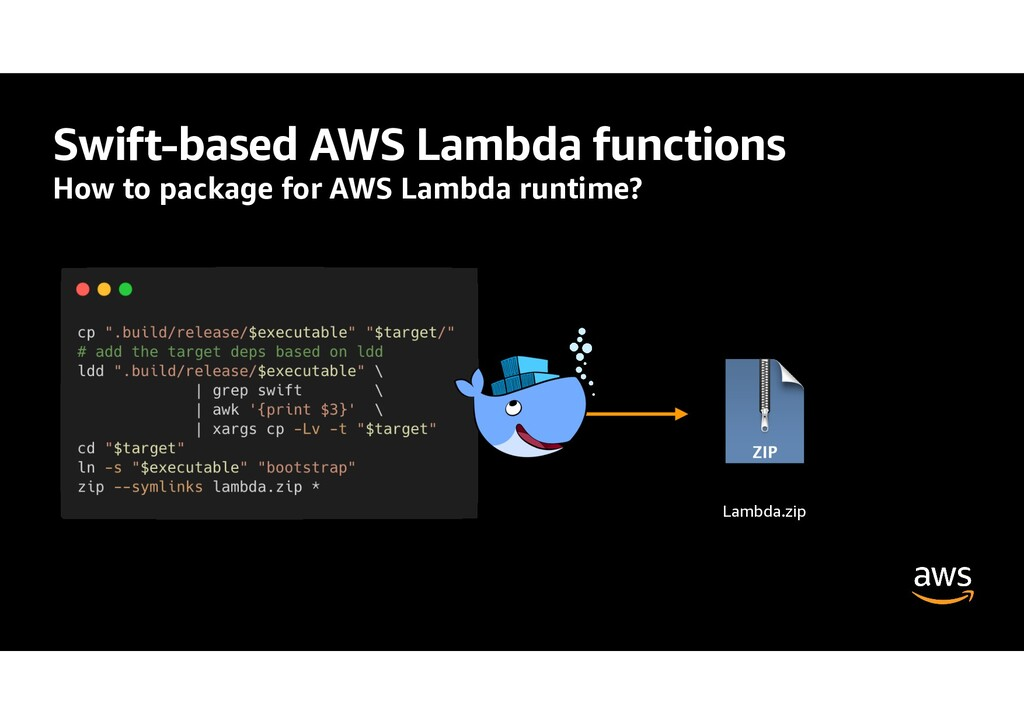 Swift-based AWS Lambda functions How to package...