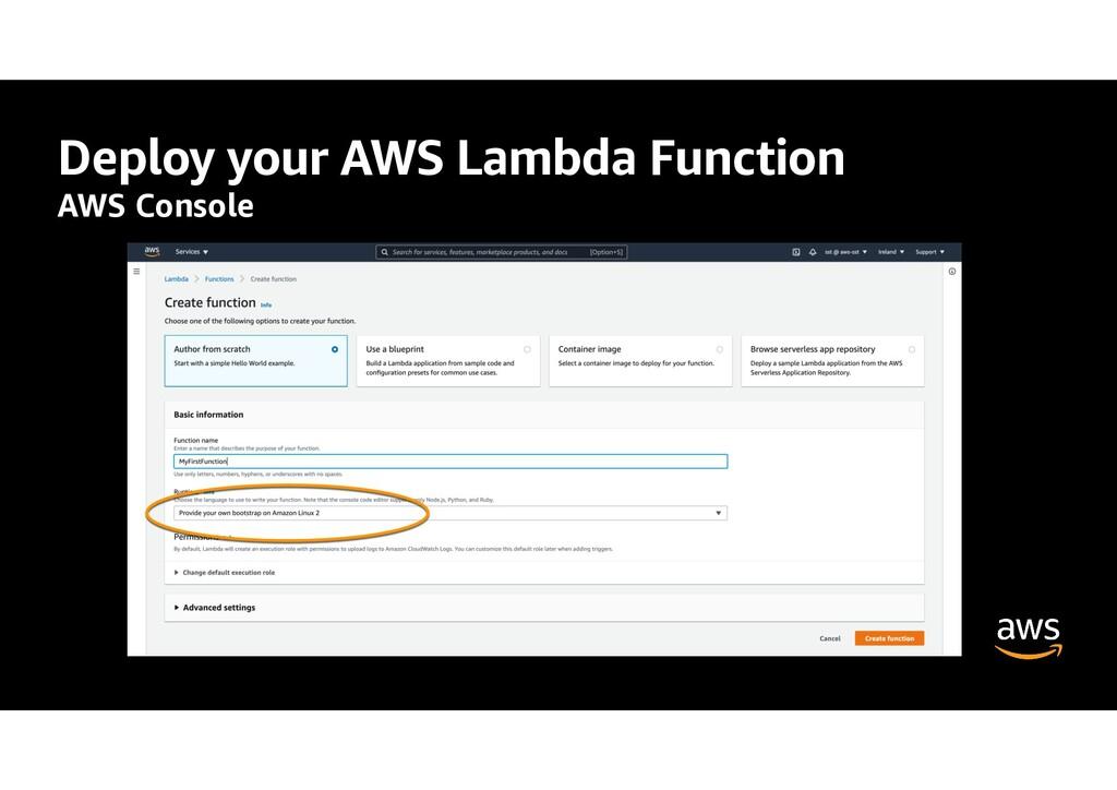 Deploy your AWS Lambda Function AWS Console