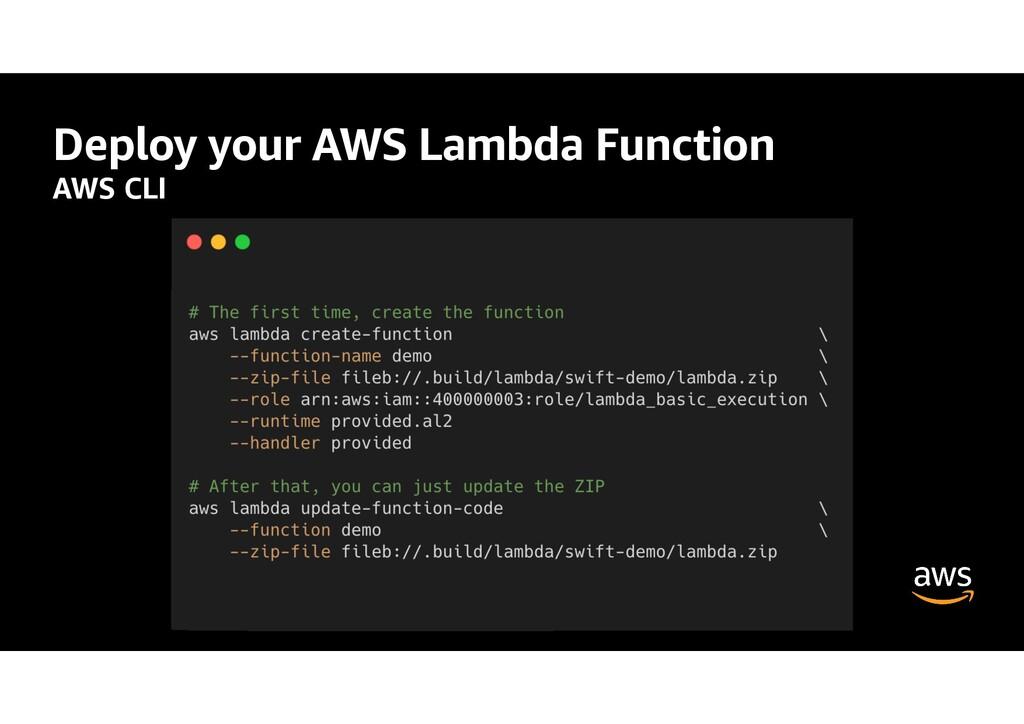 Deploy your AWS Lambda Function AWS CLI