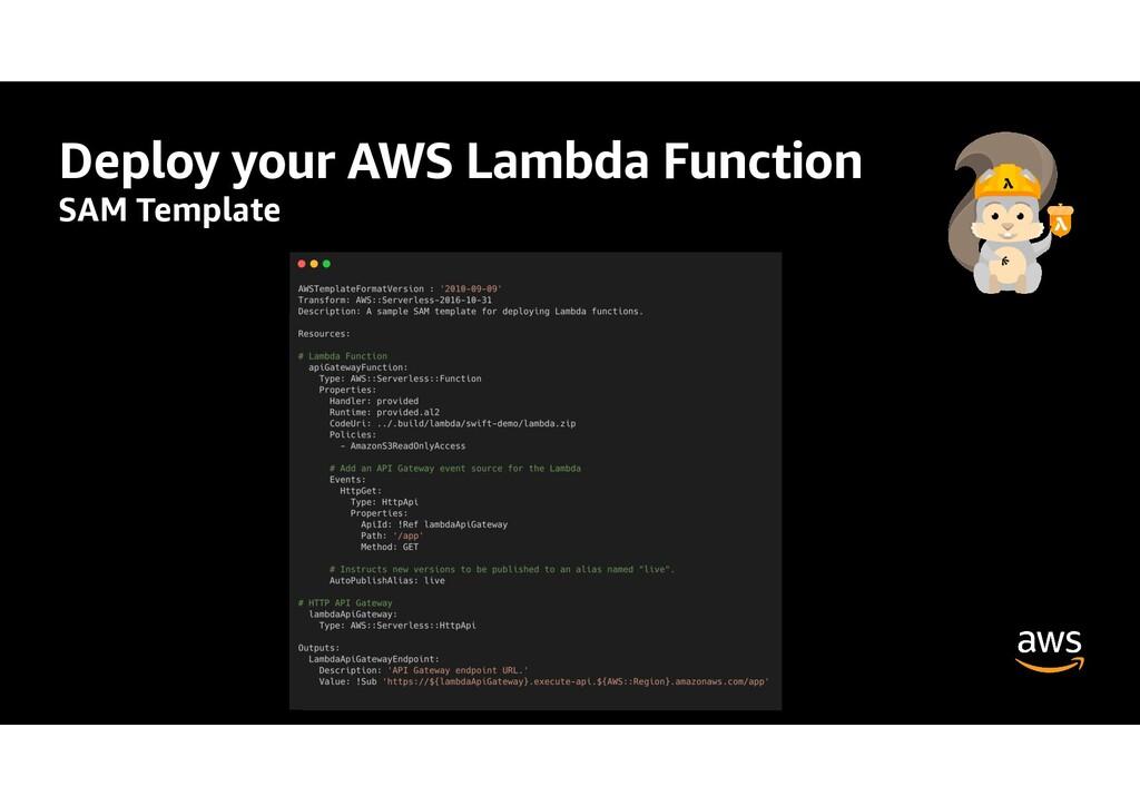 Deploy your AWS Lambda Function SAM Template