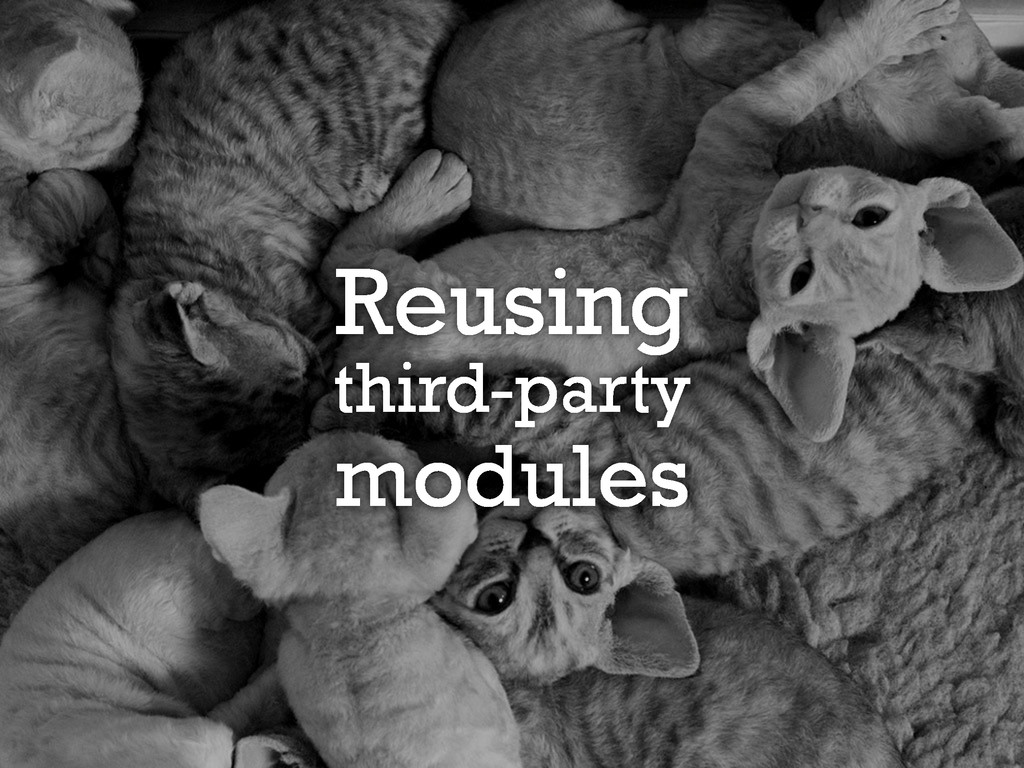 Reusing third-party modules