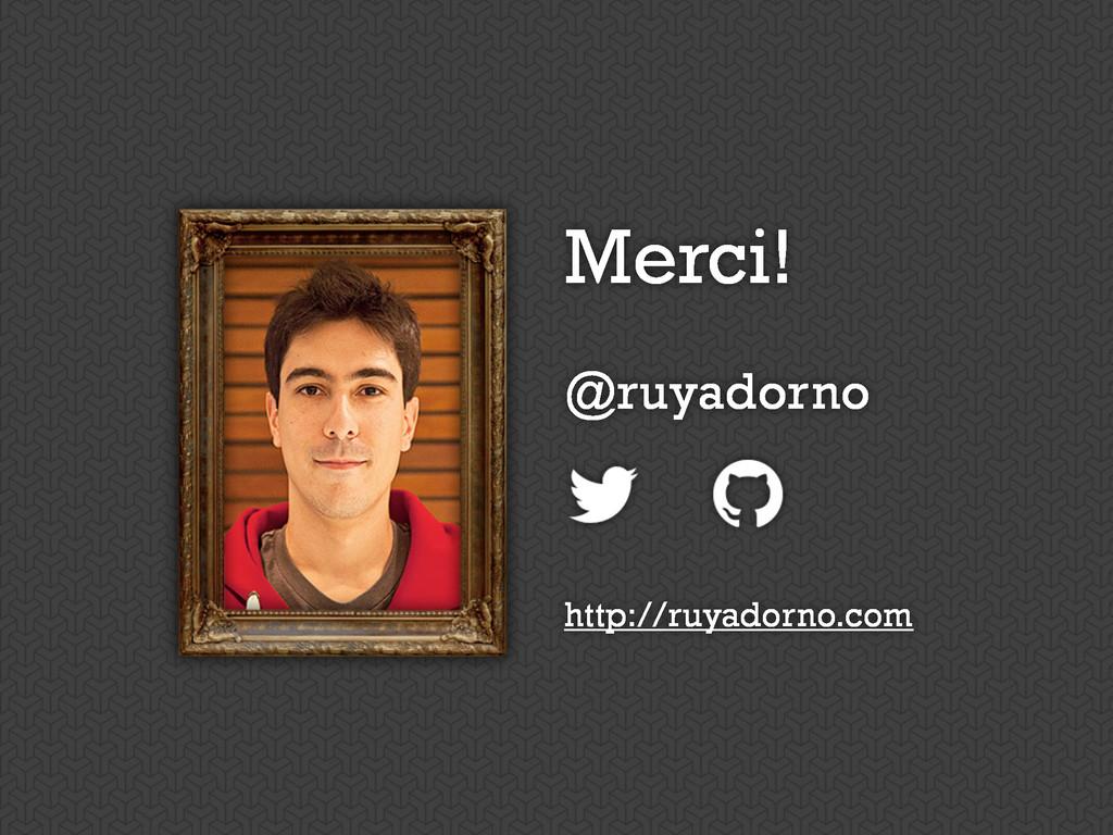 Merci! @ruyadorno http://ruyadorno.com