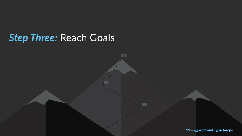 Step Three: Reach Goals 13 — @jasonhand | @vict...