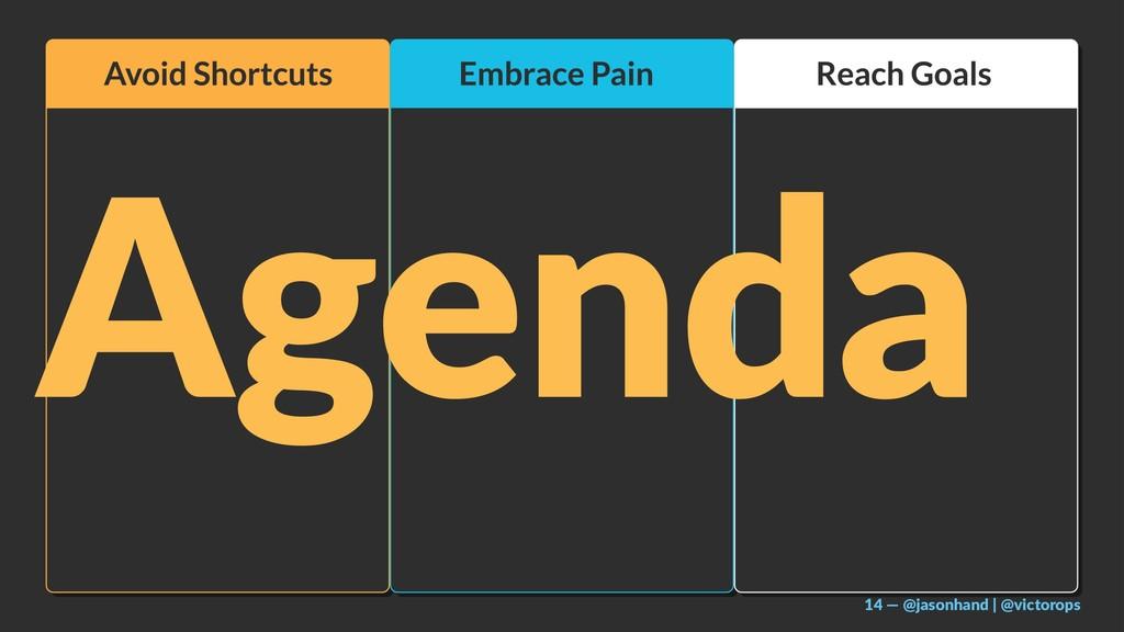 Agenda 14 — @jasonhand | @victorops