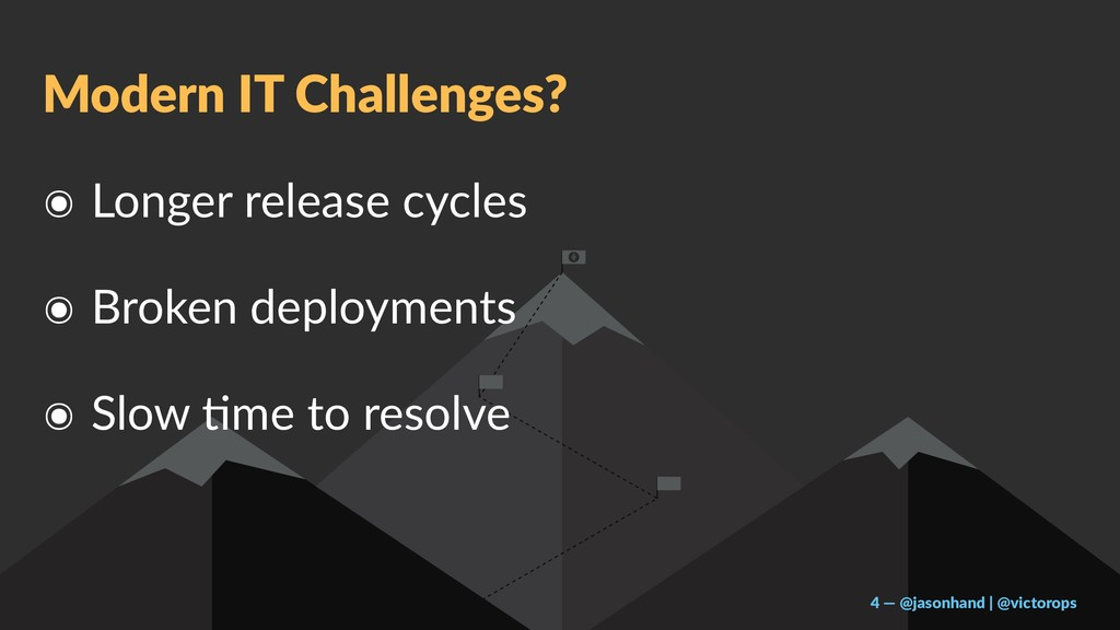 Modern IT Challenges? ๏ Longer release cycles ๏...