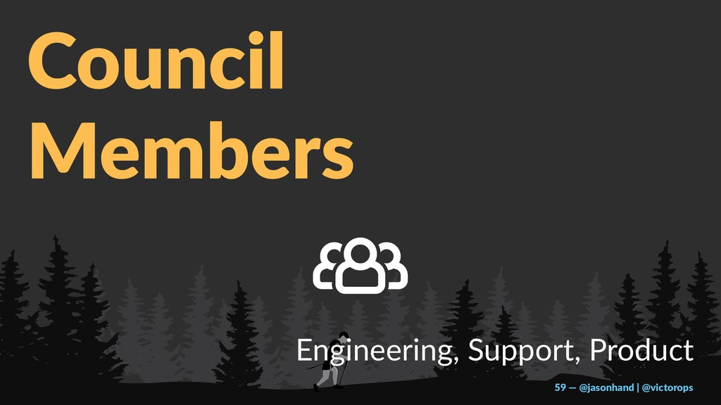 Council Members Engineering, Support, Product 5...