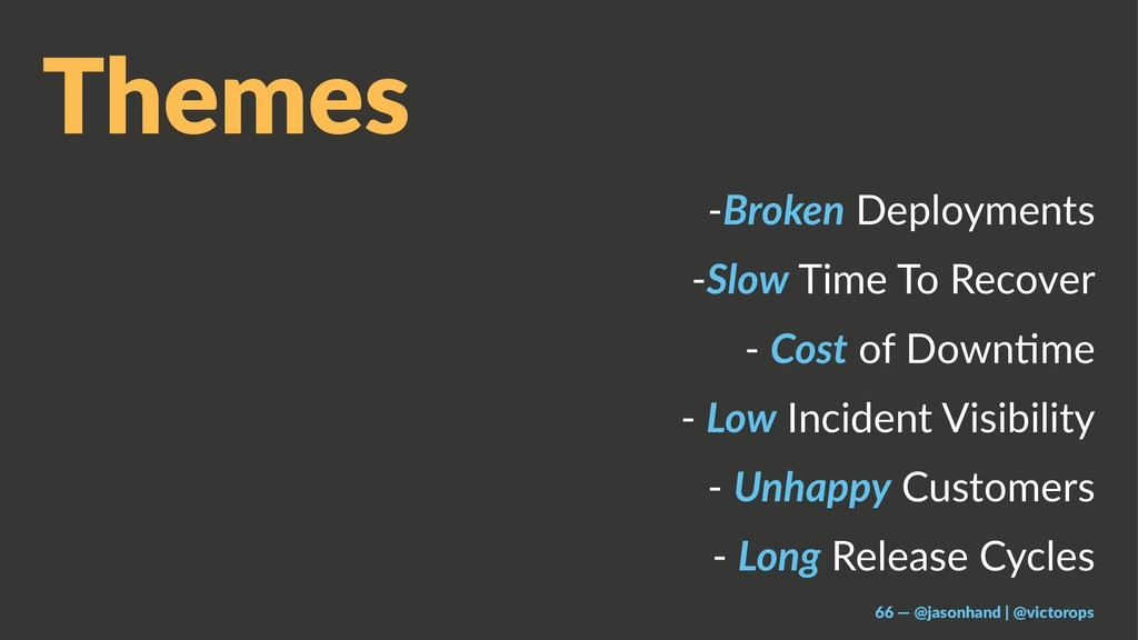 Themes -Broken Deployments -Slow Time To Recove...