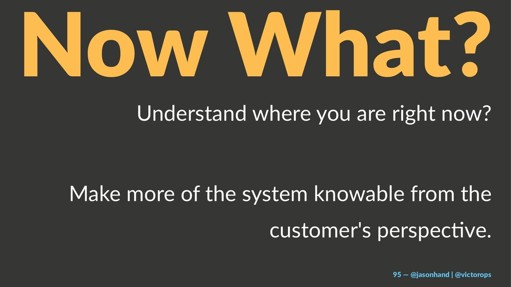 Now What? Understand where you are right now? M...
