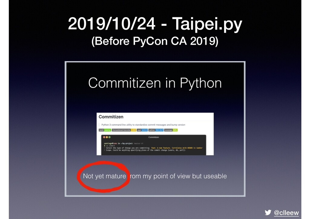 @clleew 2019/10/24 - Taipei.py (Before PyCon CA...