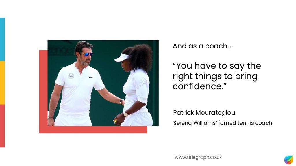 Patrick Mouratoglou Serena Williams' famed tenn...