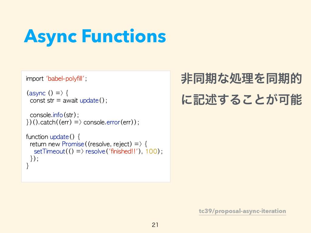 Async Functions  tc39/proposal-async-iteratio...