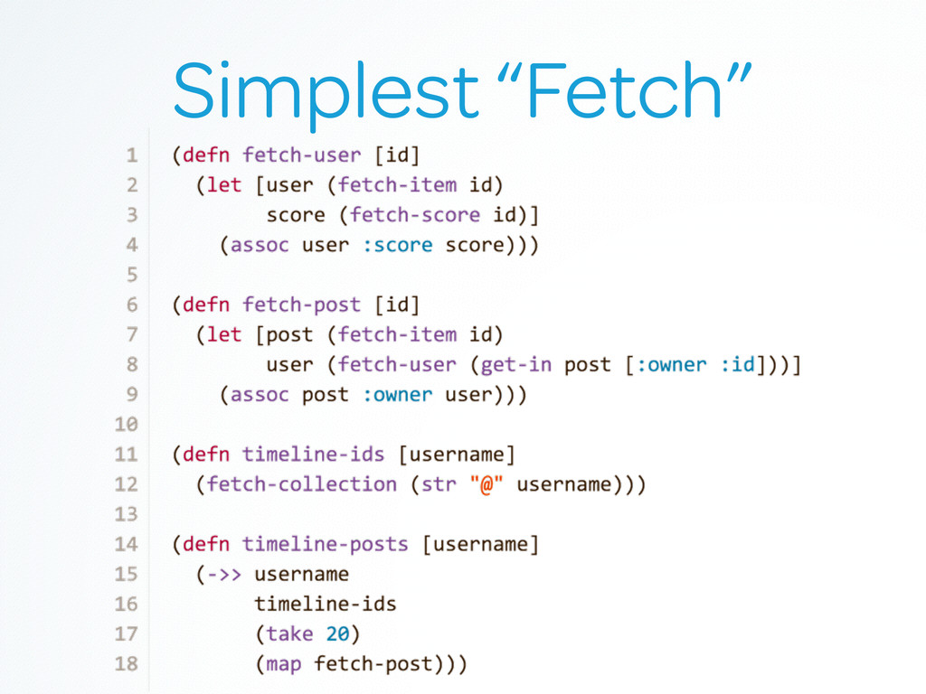 "Simplest ""Fetch"""