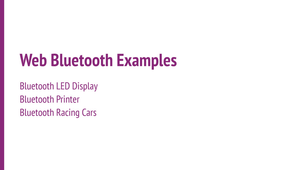 Web Bluetooth Examples Bluetooth LED Display Bl...