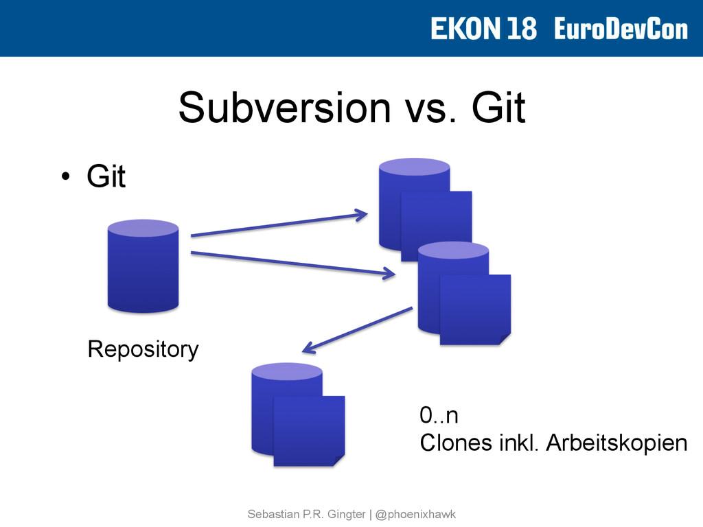 Subversion vs. Git • Git Sebastian P.R. Gingte...