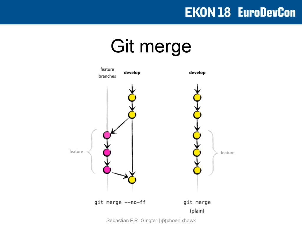 Git merge Sebastian P.R. Gingter   @phoenixhawk