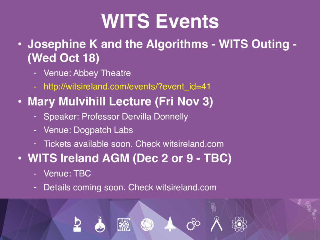 WITS Events • Josephine K and the Algorithms - ...