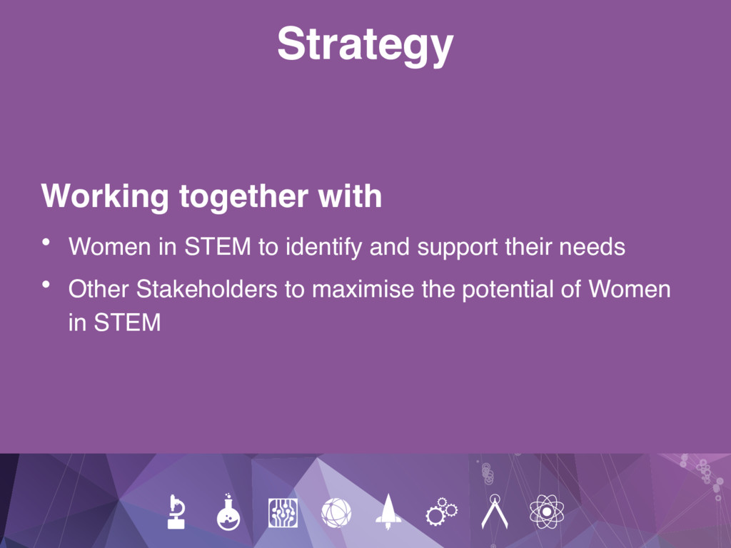 Strategy Working together with • Women in STEM ...