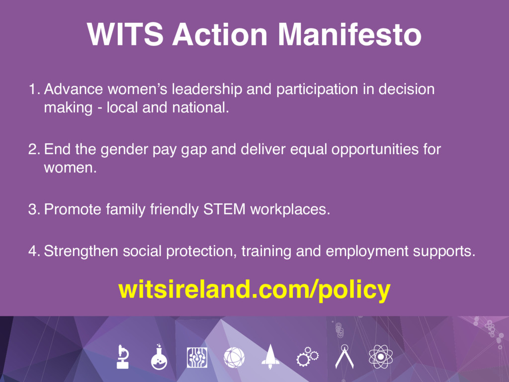 WITS Action Manifesto 1. Advance women's leader...