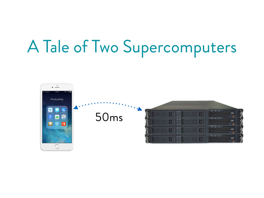 A Tale of Two Supercomputers 50ms