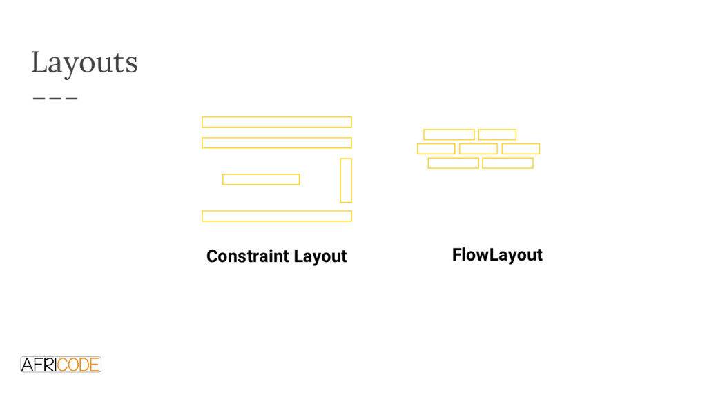 Layouts Constraint Layout FlowLayout