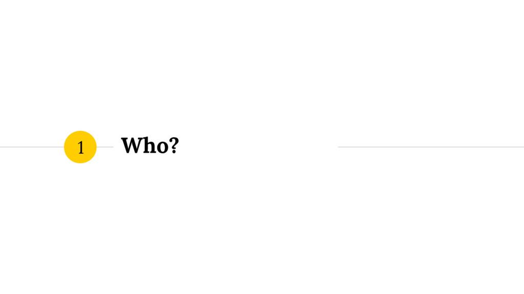 Who? 1