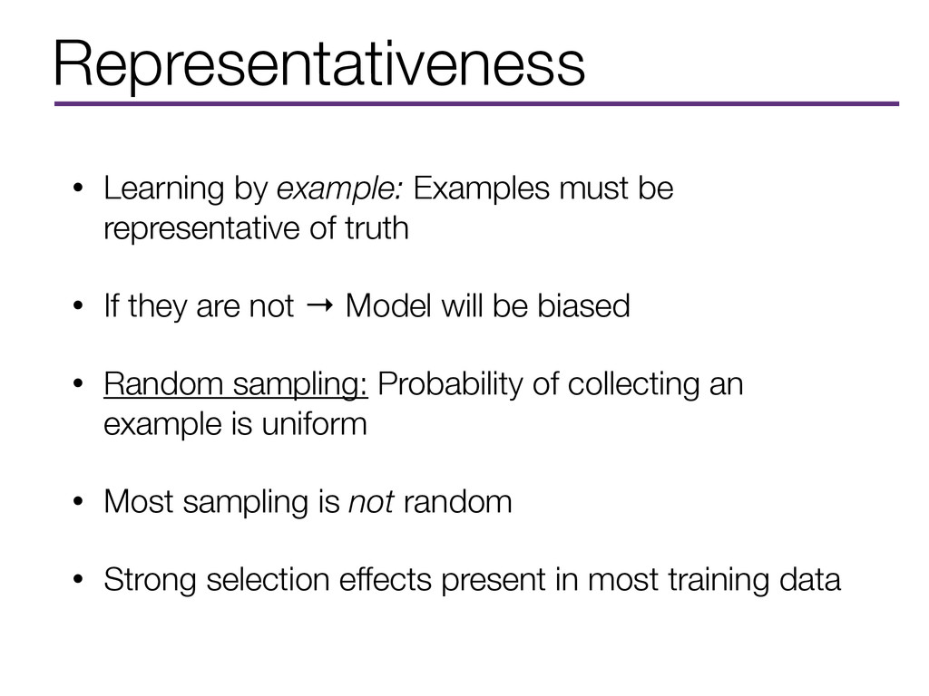 Representativeness • Learning by example: Examp...
