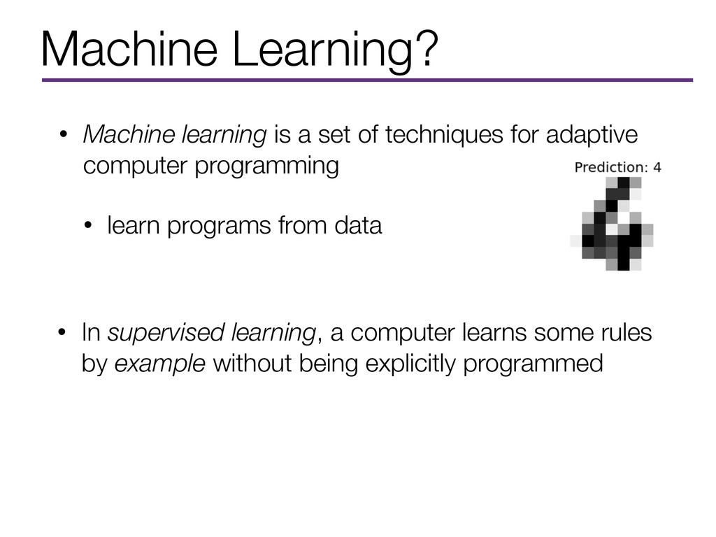Machine Learning? • Machine learning is a set o...
