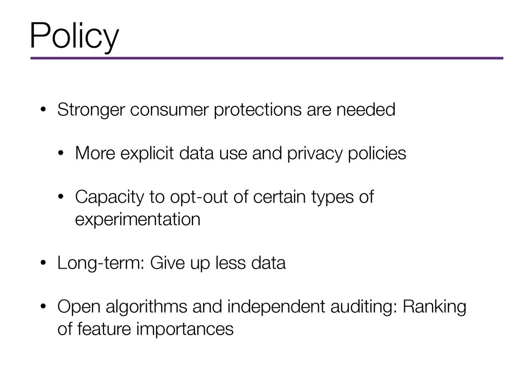 Policy • Stronger consumer protections are need...