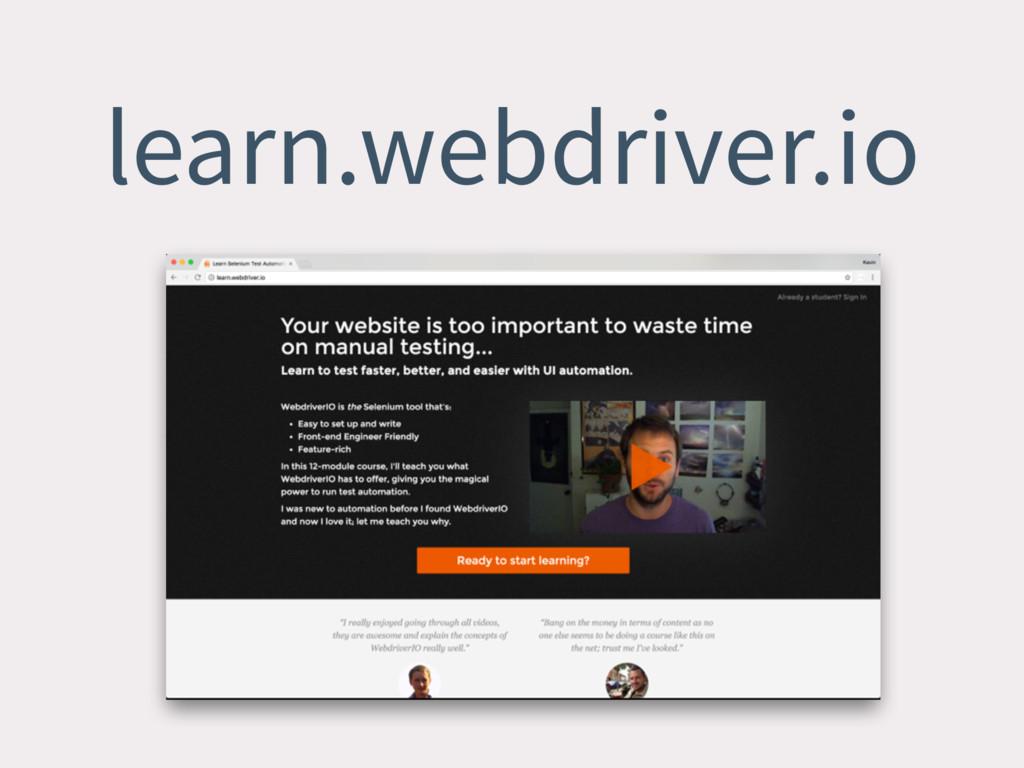 learn.webdriver.io