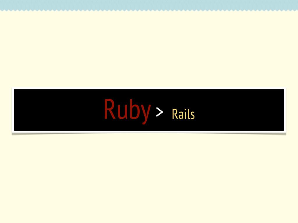 Ruby > Rails
