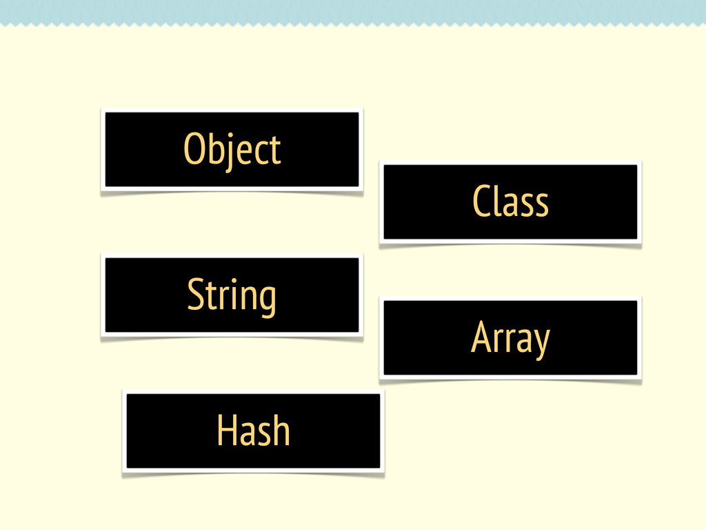Object Class String Array Hash