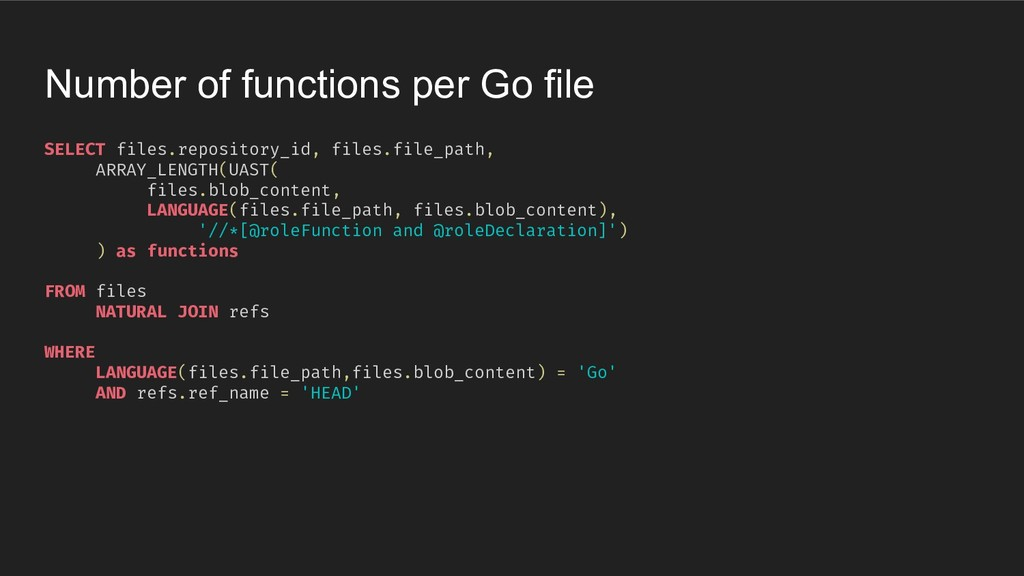 SELECT files.repository_id, files.file_path, AR...