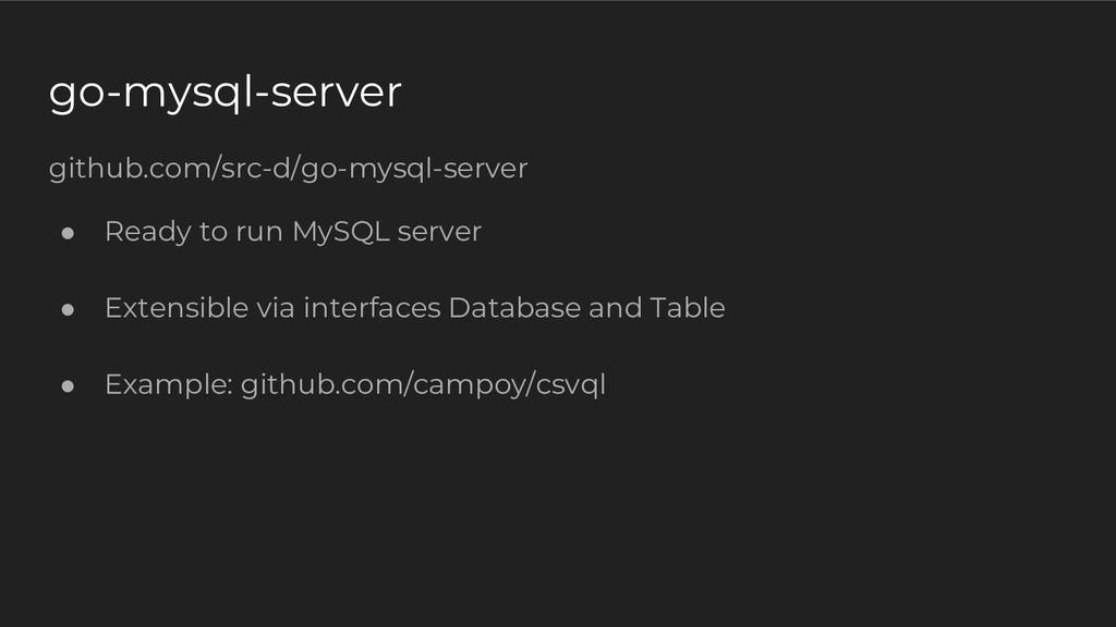 go-mysql-server github.com/src-d/go-mysql-serve...