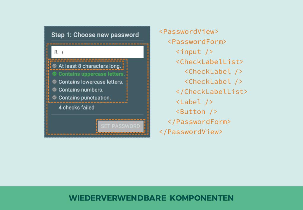 WIEDERVERWENDBARE KOMPONENTEN <PasswordView> <P...